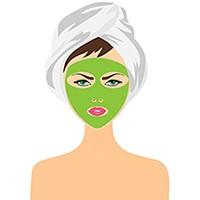 Изображение девушки с пилингом на лице